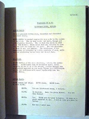 The Life and Death of Sugar Candy Screenplay of Proposed new Film Production to be made at Denham ...