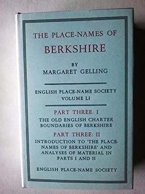 The Place-Names of Berkshire English Place Name: Margaret Gelling
