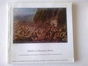 Sotheby's Hopetoun House 13th Nov 1978 ,: Sotheby's