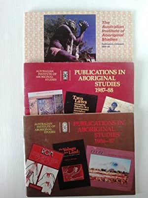 Publications in Aboriginal Studeis 1986 - 1987 and 1987 - 1988 with Publications Catalogue 1985- ...