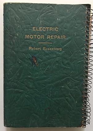 rosenberg electric motor repair abebooks rh abebooks com Manual Motor Starter Wiring Diagram Car Motor Repair Manual