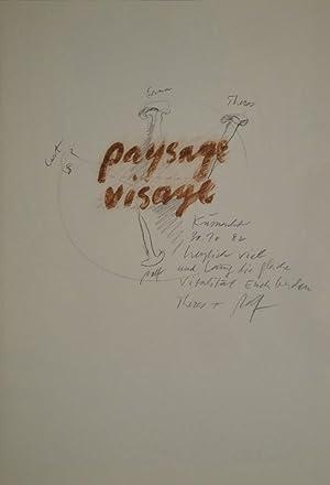 Paysage Visage. Marcel Beuret Textes. Therese Iseli Photographies. Rolf Iseli Dessins.: ISELI, Rolf.