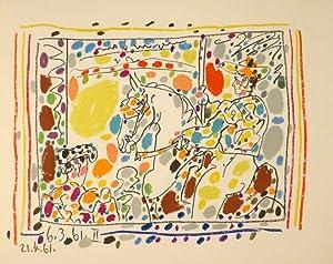 """A los Toros"""" mit Picasso. Mit vier Original-Lithographien von Pablo Picasso.: PICASSO - ..."""
