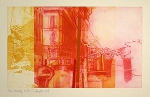 Venedig, Rialto. Farbradierung. 2008. Unten links in Bleistift nummeriert: 5/30, bezeichnet, ...