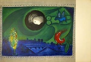Quai de Bercy. 1954. Farblithographie aus: Derrière Le Miroir 66-67-68. Chagall, Paris.: ...