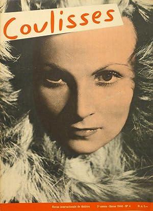 Coulisses. Revue internationale de théâtre. Editeur: Karl Konradin Steiner. Réd...