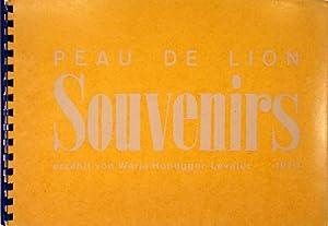 Peau de Lion . Souvenirs.: HONEGGER-LAVATER, Warja.