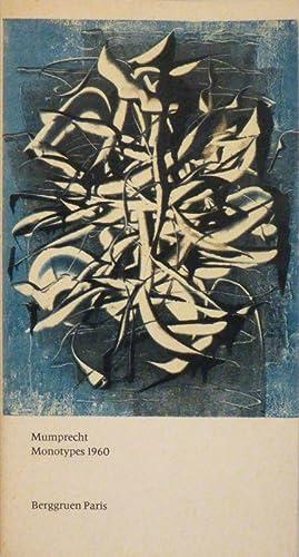 Mumprecht. Monotypes 1960. Texte de Jacques Prévert.: COLLECTION BERGGRUEN - MUMPRECHT.