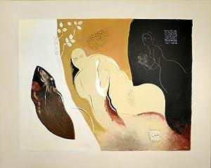 Die Liebe ist unterwegs. Acryl und persische: MOHAMMAD ALI TARAGHIJAH