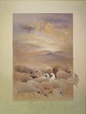 Ohne Titel. Acryl auf Leinwand. 1988. Unten: MOHAMMAD ALI TARAGHIJAH