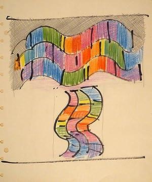 Ohne Titel. Zeichnung in Farbstift, Filzstift, Bleistift.: JOHANNES ITTEN (Süderen-Linden/Thun