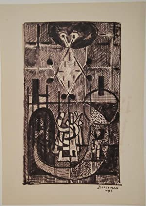 Figure. Filzstift. 1953. Unten rechts in Filzstift voll signiert.: BERTHOLLE, JEAN (Dijon 1909 - ...