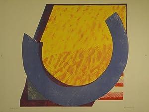 Aufbrechend. Farblithographie. 1971. Unten rechts in Bleistift signiert u. datiert, links ...