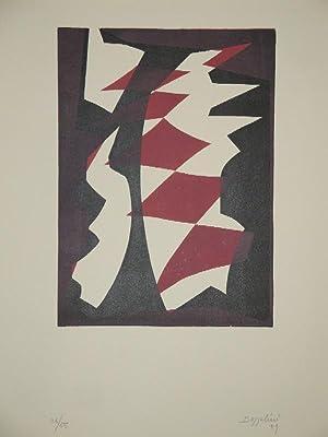 Portfolio mit 10 Original-Farbholzschnitten, je 5 von: SILVANO BOZZOLINI (Fiesole