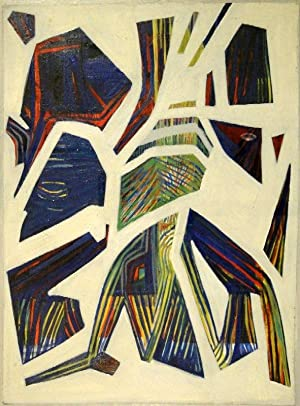 Abstrakte Komposition. Öl auf Papier auf Spanplatte. Um 1940.: JÜRG SPILLER (Basel 1913 - 1974...