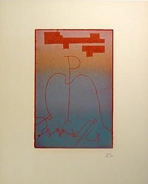 Lignes Malignes. 1972. Folge von 15 Farbholzschnitten mit Titel und Druckvermerk auf Vélin d...