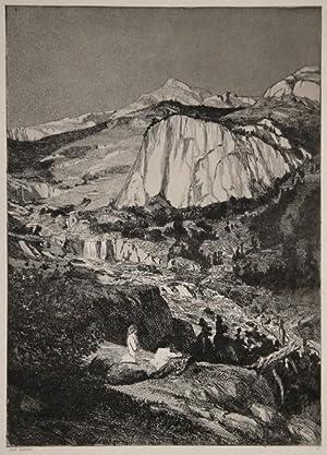 Mondnacht. Radierung und Aquatinta. 1881.: MAX KLINGER (Leipzig 1857 - 1920 Grossjena bei Naumburg)...