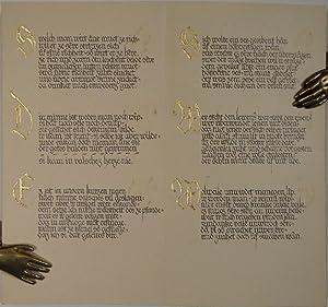 """Walter von der Vogelweide. Gedichte"""". Kalligraphisches Manuskript auf Papier. Geschrieben in ..."""
