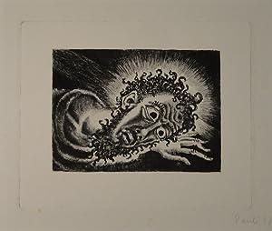 "Christuskopf. Radierung. 1917. Unten rechts in Bleistift signiert u datiert: ""Pauli 17"".: ..."