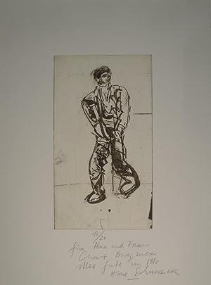 Männliche Figur. Radierung und Aquatinta. Im Unterrand numeriert: 13/20 und mit ...