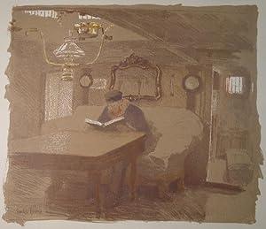 """Einfahrt"""". Farblithographie. 1896. Unten links im Stein signiert, auf ehemaligem ..."""