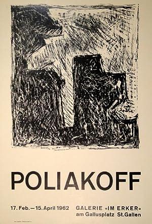 "Composition en noir et blanche. Orig.-Lithographie. 1962. Plakat der Galerie ""Im Erker"", ..."
