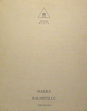 Raumstille. 7 Serigrafien. Einführungsgedicht von Wieland Schmied.: MANFRED MAKRA (*Graz 1956 ...