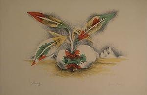 Sang et Vie. Farblithographie in 4 Farben. Unten links in Bleistift signiert, rechts bezeichnet: �&...