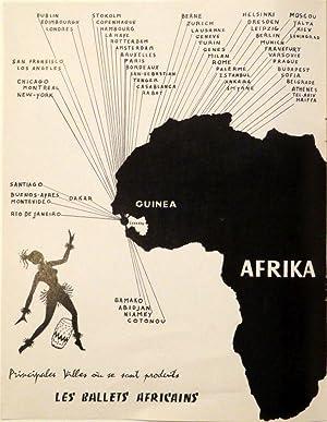 LES BALLETS AFRICAINS. Ensemble National de la Republique de Guinée. 50 danseurs, chanteurs,...