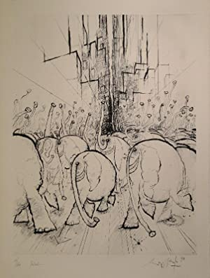 Festival. Radierung. 1971. Unten rechts in Bleistift signiert und datiert, links nummeriert: 61&#...