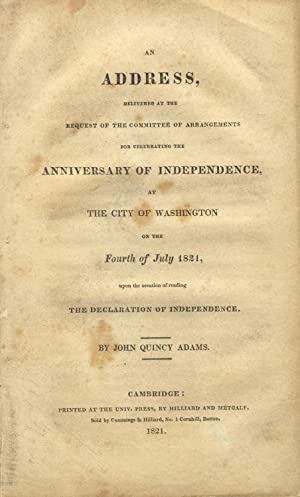 An address, delivered at the request of the committee of arrangements for celebrating the anniver...