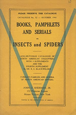 Books, pamphlets and serials on insects and spiders [cover title]