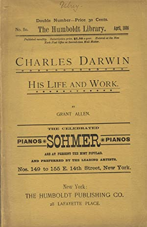 Charles Darwin: His life and work [cover title]