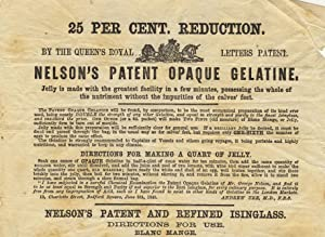 Nelson's patent opaque gelatine [caption title]