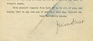 Typed letter, signed