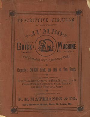Descriptive circular of the famous Jumbo Brick: Trade Catalogues). P.