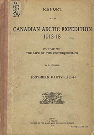 The life of the Copper Eskimos. In: Report of the Canadian Arctic expedition, 1913-18. Volume XII...