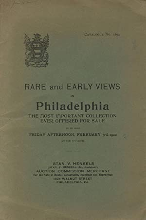 Rare and early views in Philadelphia. Belonging to a well-known collector and embracing the most ...