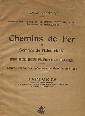 Chemins de fer et service d'electricite. Marine, postes, telegraphes, telephones et ...