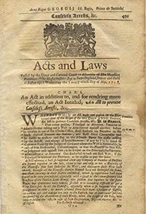 An act to exempt persons commonly called Anabaptists, and those called Quakers within this province...