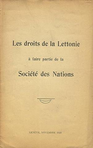 Les Droits de la Lettonie a fair partie de la Societe des Nations [cover title]: Latvia, Law)