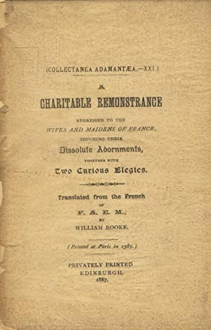 A charitable remonstrance addressed to the wives and maidens of France .: E[STIENNE], A[NTOINE]