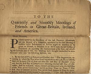 To the quarterly and monthly meetings of Friends in Great Britain, Ireland, and America [caption ...