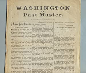 Washington as past master [caption title]