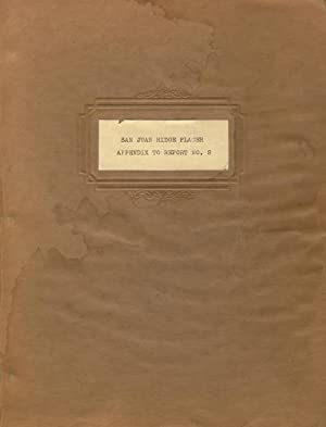 Appendix / Section no. 1. / Appendix to report of / Ross B. Hoffman - / January 7th, 1935