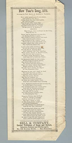 New Year's Song, 1876. As sung by Ned Barry, at Buckley's Varieties