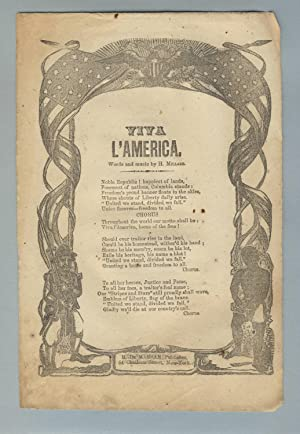 Viva l'America. Words and music by H. Millard