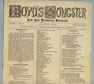 Boyd's songster and San Francisco pictorial. Volume I, no. 2, August 1868