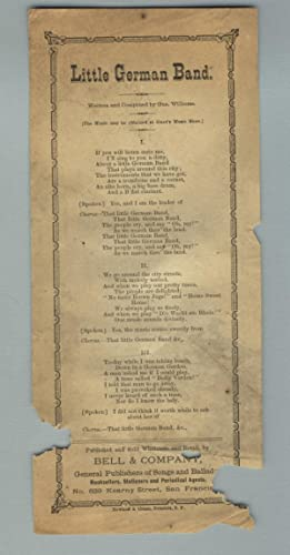 Little German band. Written and composed by Gus Williams. [The Music may be obtained at Gray's Mu...