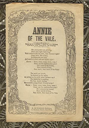Annie of the vale. Words by G. P. Morris. - Music by J. R. Thomas, to be had at Firth, Pond and C...